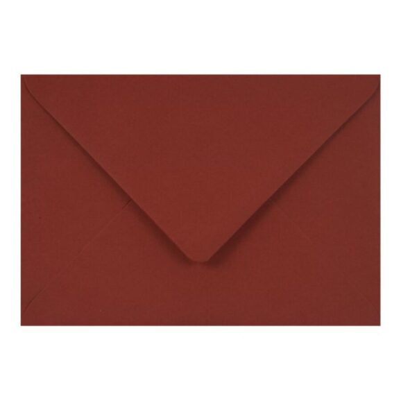 14_Koperta Sirio Color 115g - B6, Cherry, bordowa, 0,60