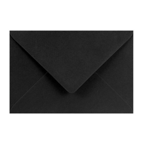 24_Koperta Burano 120g - B6, Delta Nero, czarna, 0,60